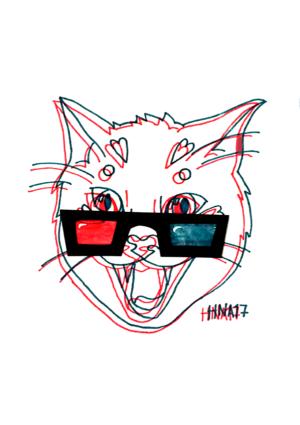 Kissa juliste 3D