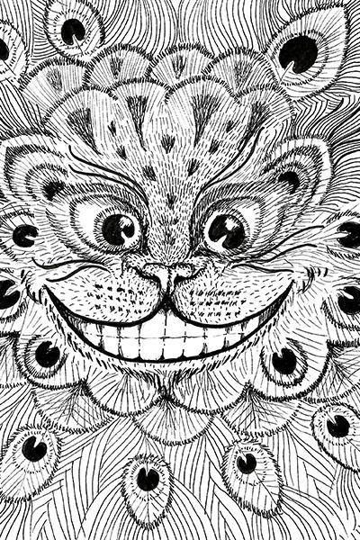 Kissa juliste silmät irvikissa